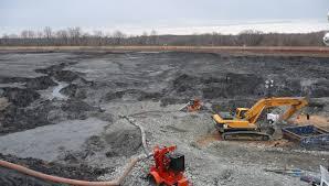 excavation of coal ash